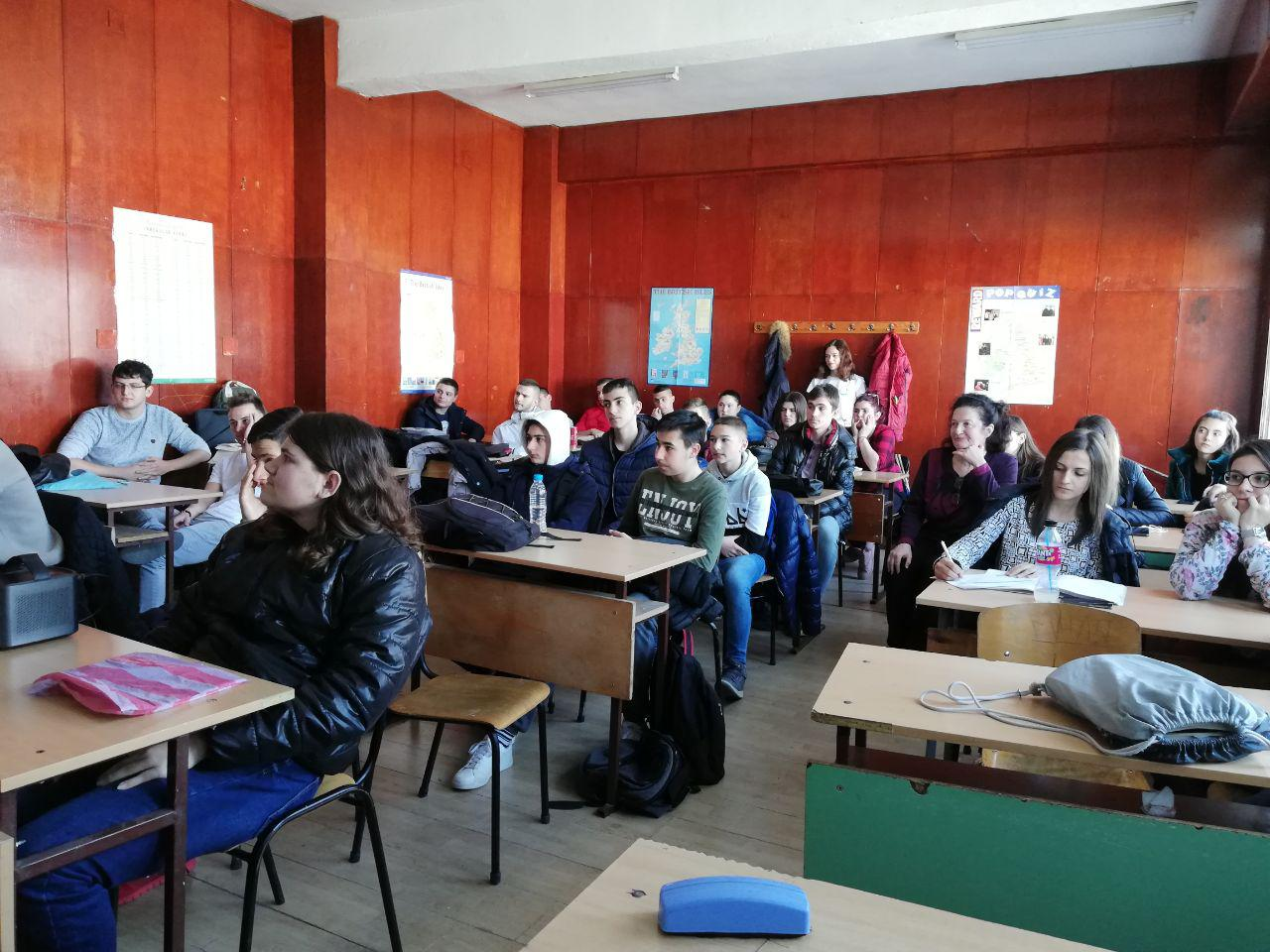 Students learning about Erasmus+ opportunities